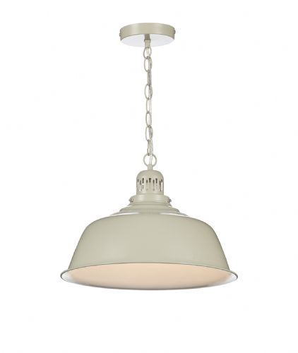 Nantucket 1 Light Pendant Cream (Class 2 Double Insulated) BXNAN0133-17